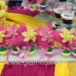 Βάπτιση με θέμα λουλούδια
